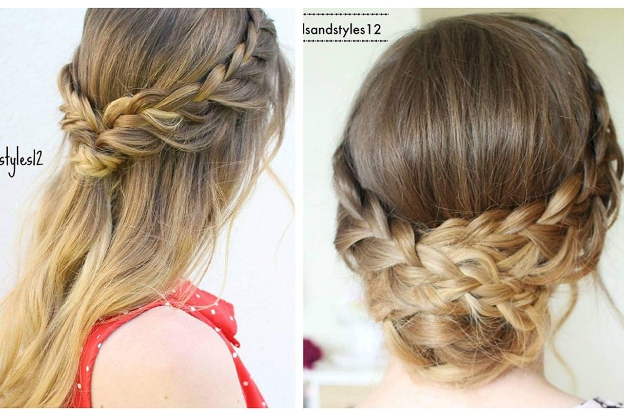 صورة تسريحات شعر بسيطة , اجمل تسريحات الشعر للبنات