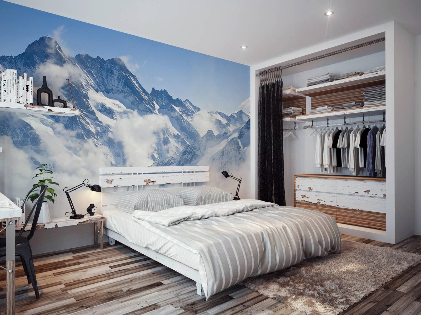 صورة ورق جدران غرف نوم , اجمل اشكال ورق الحائط 3515 7