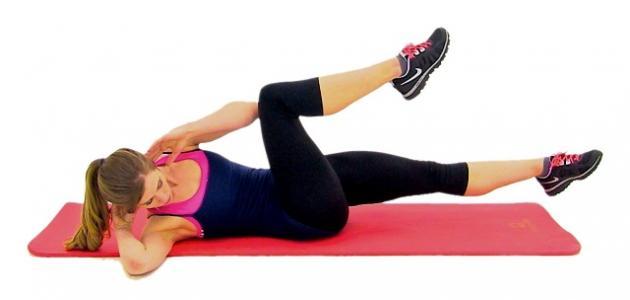 صورة تمارين البطن للنساء , تمارين شد عضلات البطن