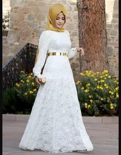صورة فساتين سواريه 2019 للمحجبات , احدث الصيحات المميزة لفستان المحجبة