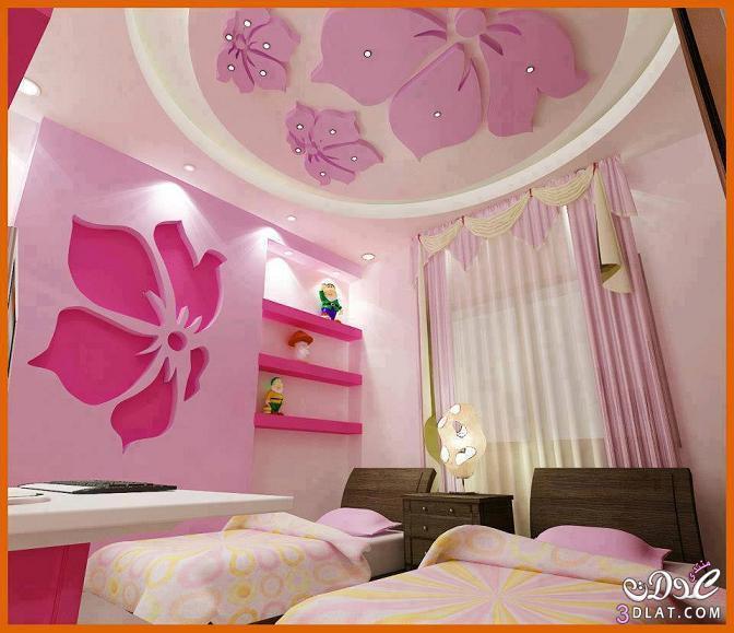 صورة ديكورات جبس غرف نوم اطفال , تصميمات حديثة ومتنوعة لغرفة نوم الطفل