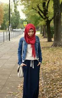 صورة لبس محجبات , احدث الصيحات الكاجوال لملابس المحجبات