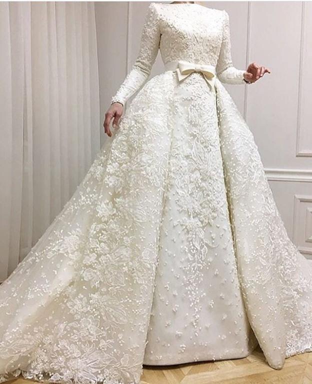 صورة فساتين زفاف للمحجبات , صور اجمل فساتين
