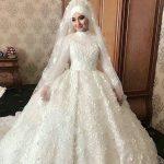 فساتين زفاف للمحجبات , صور اجمل فساتين