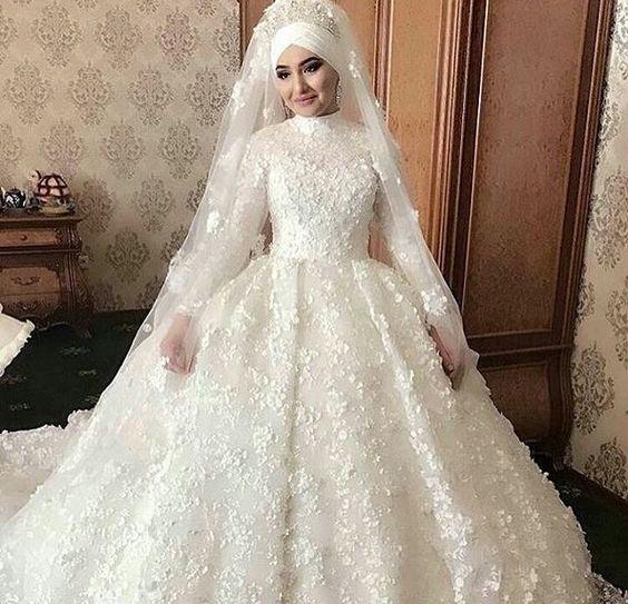 صور فساتين زفاف للمحجبات , صور اجمل فساتين