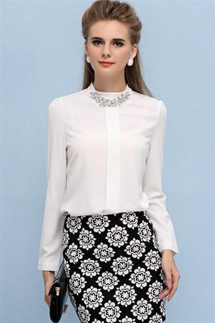 صورة موديلات بلايز , احدث التصميمات للملابس النساء
