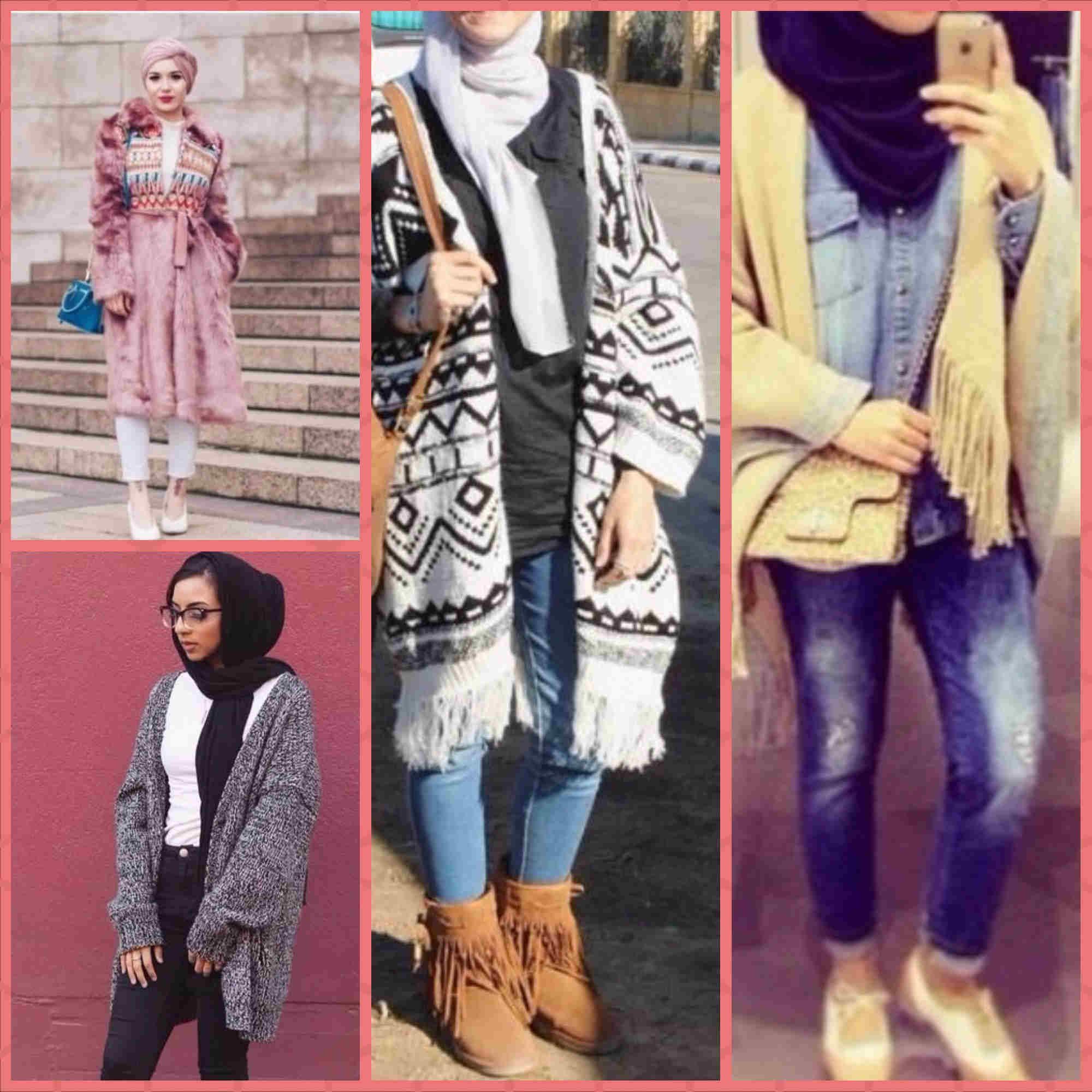 صورة موضة شتاء 2019 للمحجبات , اجمل موديلات الملابس للمحجبات
