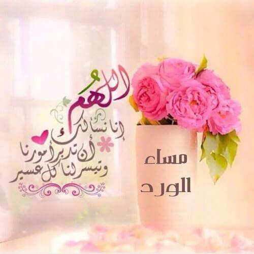 صورة مساء الخير مسجات , اجمل رسائل مساء الخير جديد