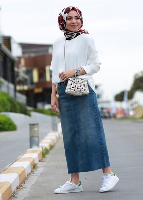 صورة اخر صيحات الموضة للمحجبات , صور محجبات على الموضة