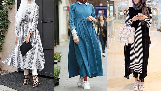 صورة ملابس محجبات ٢٠١٨ , احدث صيحات الموضه للمحجابات في ٢٠١٨