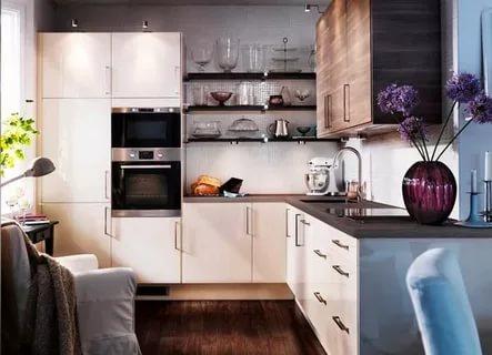 صورة تصميم مطابخ صغيرة , ديكورات مطبخ صغير جميلة