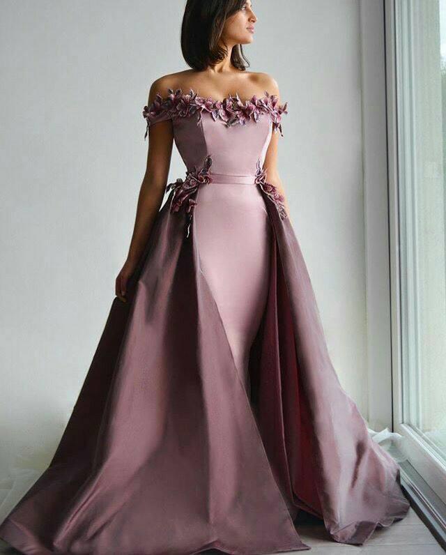 صورة فستان سواريه , احدث فساتين سواريه