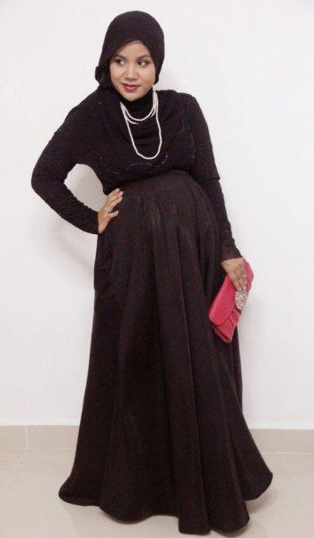 صورة ملابس للحوامل المحجبات , اروع المودلات الخاصه بملابس الحوامل