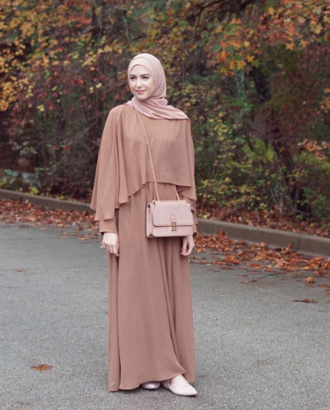 صورة فساتين محجبات 2019 , اختاري لنفسك اجمل فستان محجبات