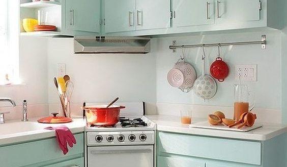 صورة ديكورات مطابخ صغيرة , لو مطبخك صغير اختاري احد التصميمات