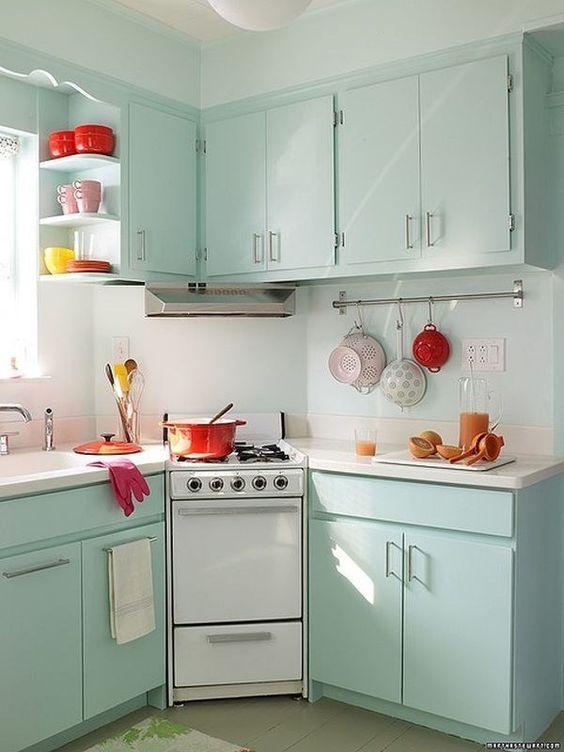 صور ديكورات مطابخ صغيرة , لو مطبخك صغير اختاري احد التصميمات