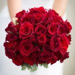 بوكيه ورد احمر , باقة زهور حمراء