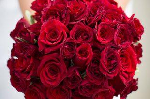 صورة بوكيه ورد احمر , باقة زهور حمراء