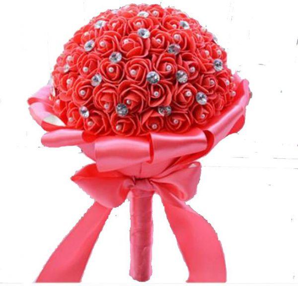 صورة بوكيه ورد احمر , باقة زهور حمراء 5087 5
