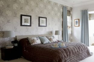 صورة ورق جدران لغرف النوم , احدث تصميمات جدران غرفة النوم