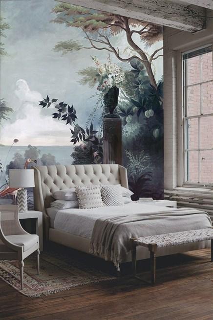 صورة ورق جدران لغرف النوم , احدث تصميمات جدران غرفة النوم 5120 7