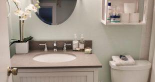 صور ديكورات حمامات صغيرة جدا وبسيطة , اشيك ديكور لحمام صغير