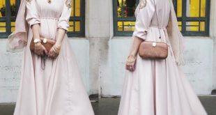 صورة اجمل الفساتين للمحجبات , احسن فساتين للمحجبات