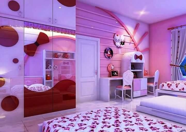 صورة ديكورات غرف نوم بنات , افضل ديكورات مميزة للغرف
