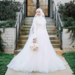 فساتين اعراس للمحجبات , اختاري فستان عرسك من اجمل فساتين الاعراس