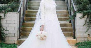 صورة فساتين اعراس للمحجبات , اختاري فستان عرسك من اجمل فساتين الاعراس