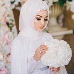 صور عرايس محجبات , حجابك يوم عرسك يزيد من جمالك وتميزك