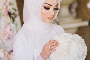 صورة صور عرايس محجبات , حجابك يوم عرسك يزيد من جمالك وتميزك