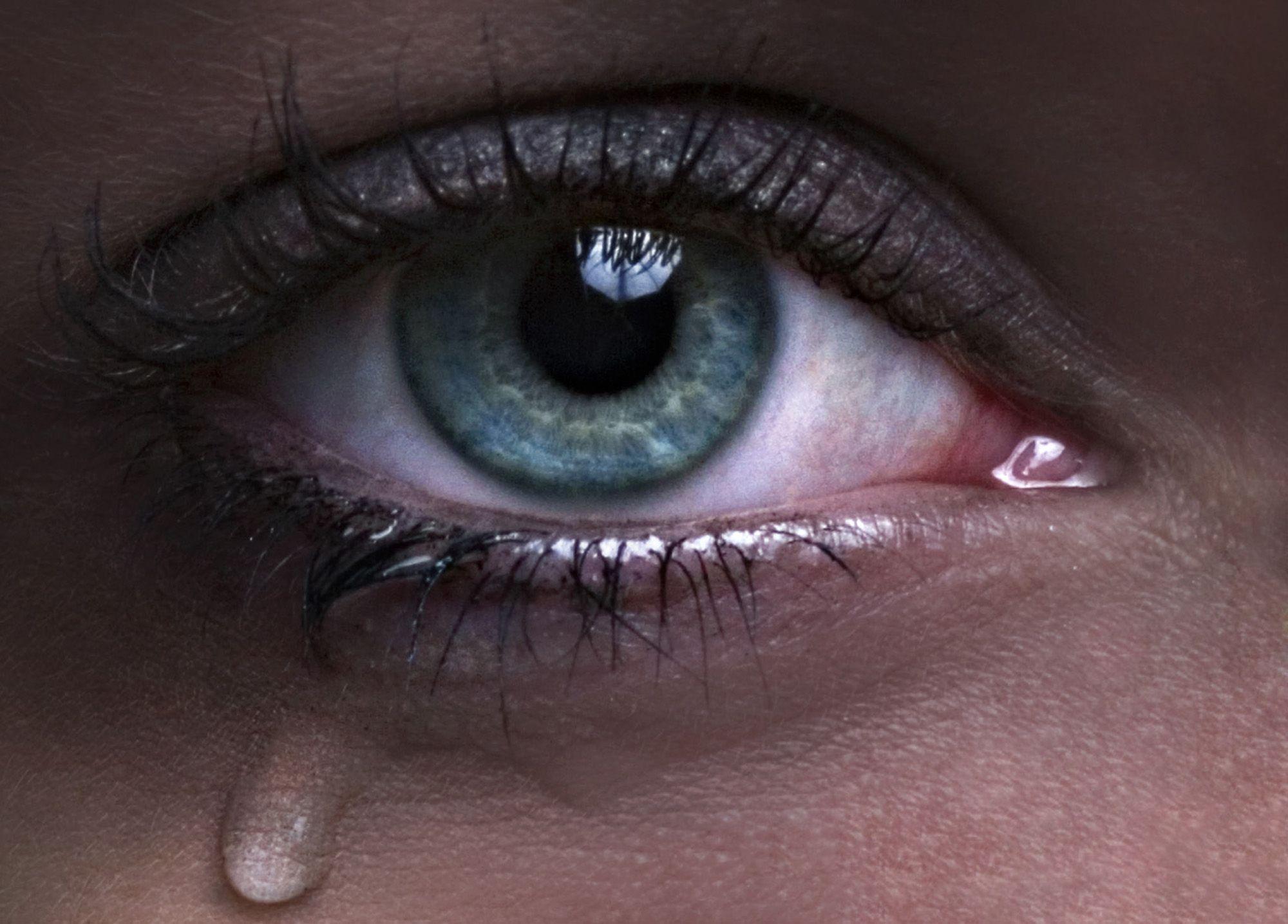 صور صور عيون تدمع , كفاية دموع عيونك الحلوة غالية