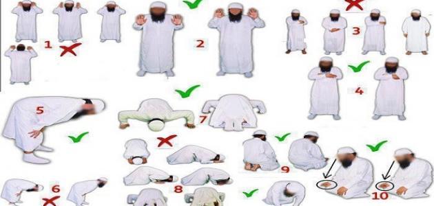 صور الطريقة الصحيحة للصلاة , اول ما يسال عليه العبد هو الصلاة