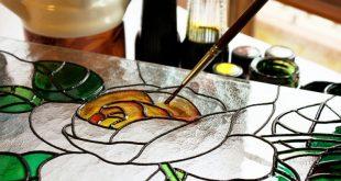 صور الرسم على الزجاج , ابسط طريقة لرسومات الزجاج