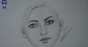 صور رسم وجه امراة , بالقلم الرصاص رسم مبسط لوجة المراة