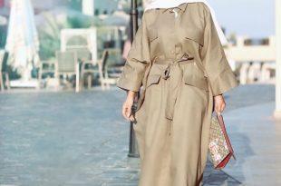 صورة ملابس خروج للبنات المحجبات , موضة ثياب لنساء بالحجاب 2019