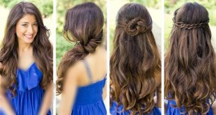 صور تسريحات بسيطة للشعر الطويل , احدث تصفيفات لصاحبات الشعر الطويل
