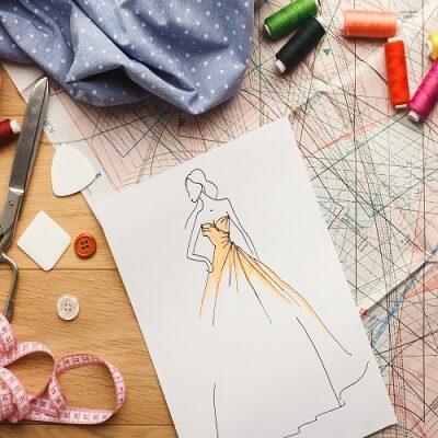 صورة تصميم ازياء , تعرف على احدث خطوط الموضه بالرسومات