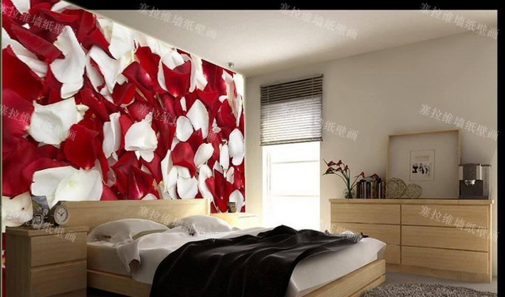 صورة ورق حائط لغرف النوم , صور ارقى ديكورات ورق الحائط