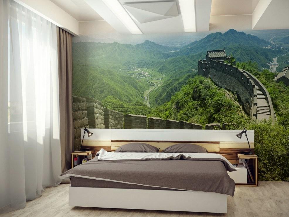 صورة ورق حائط لغرف النوم , صور ارقى ديكورات ورق الحائط 12995 4