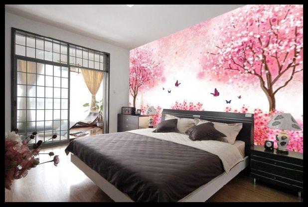 صورة ورق حائط لغرف النوم , صور ارقى ديكورات ورق الحائط 12995 8