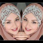 لفات حجاب للحفلات , تالقى باجمل ربطات طرح على الموضة