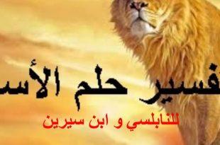 صورة تفسير حلم الاسد يطاردني , لا تخاف رؤيه الاسد فلعله خيرا