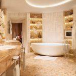حمامات فنادق , ديكورات رائعة كانه حمام ملكى