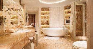 صورة حمامات فنادق , ديكورات رائعة كانه حمام ملكى