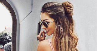 صورة تسريحات للشعر الطويل بسيطة , شعرك اجمل و اكثر جذابية مع الموضة
