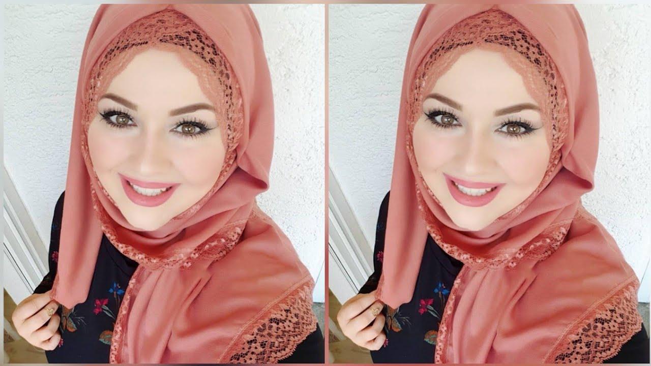 صورة لفات حجاب للحفلات , تالقى باجمل ربطات طرح على الموضة