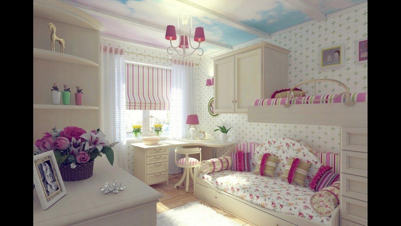 صورة غرف نوم بنات , ديكورات منزلية لغرف نوم البنات
