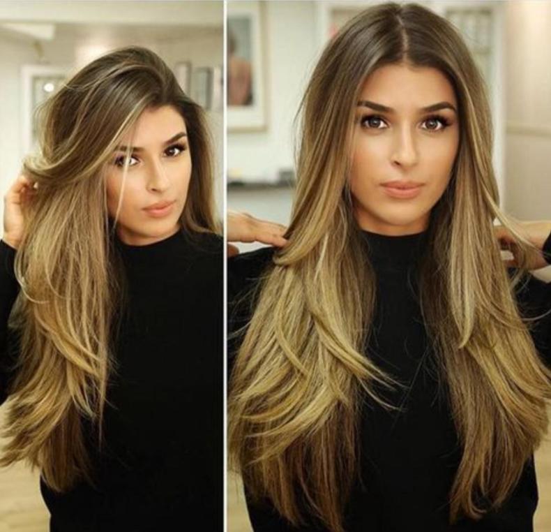 صورة قصات شعر طويل 2019 , اخر صيحات الموضة للشعر الطويل